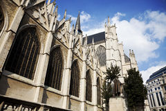 St. Michael and Gudula Cathedral. Brussels. Belgiu Royalty Free Stock Photography