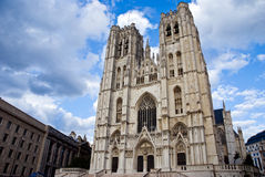St. Michael and Gudula Cathedral Brussels, Belgium Royalty Free Stock Photo