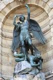 St Michael i paris Arkivbild