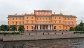 St. Michael Kasteel, Heilige Petersburg, Rusland. Stock Afbeelding