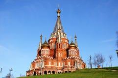 St Michael kathedraal in Izhevsk, Rusland Stock Foto
