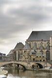 (St Michael) Kerk sint-Michielskerk en Brug, Gent Stock Foto