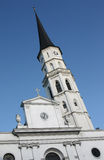 St.Michael Kirche. In Vienna with a blue sky as a background Stock Photos