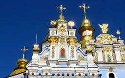 St Michael kopuły Złoty monaster w Kijów Zdjęcia Royalty Free