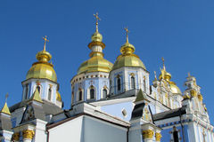 St Michael kopuły Złoty monaster w Kijów Zdjęcie Royalty Free