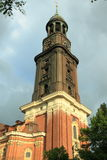 St Michael kyrka i Hamburg Royaltyfri Bild