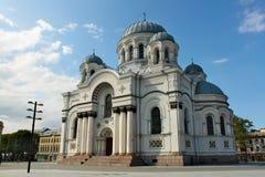 St Michael la chiesa del ` s di arcangelo a Kaunas Fotografia Stock