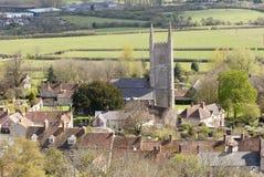 St Michael la chiesa di arcangelo, pura, Wiltshire Immagine Stock Libera da Diritti