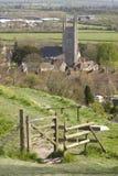 St Michael la chiesa di arcangelo, pura, Wiltshire Immagini Stock