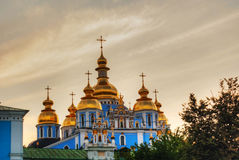 St. Michael monastery domes in Kiev, Ukraine Royalty Free Stock Image