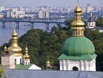 St Michael Monastery in Kiev. The city of Kiev, Ukraine, view from the St. Michael monastery royalty free stock images