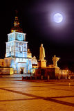 St. Michael Monastery at night Royalty Free Stock Photography