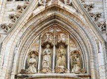 St Michael och St. Gudula i Bryssel Royaltyfri Fotografi