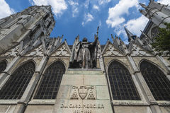 St Michael och St Gudula i Bryssel, Belgien Arkivbilder