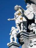 St Michael på pelare i Banska Stiavnica royaltyfri foto