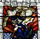 St Michael podbija x28 & diabła; pobrudzony glass& x29; obrazy stock