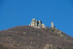 St- Michael` s Abtei in Val di Susa piedmont Italien Stockfotografie