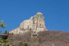St- Michael` s Abtei in Val di Susa piedmont Italien Stockbilder