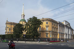 ST Michael ` s Castle, αποκαλούμενο επίσης Mikhailovsky Castle ή Enginee Στοκ Εικόνες