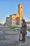 St. Michael's Cathedral from Alba Iulia fortress royalty free stock image