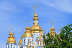St. Michael`s cathedral in Kiev Stock Photo