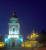 St. Michael's cathedral in Kyiv. St. Michael's cathedral at night. Kyiv, Ukraine Stock Image