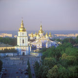 St. Michael's cathedral in Kyiv. St. Michael's cathedral at sunset. Kyiv, Ukraine Royalty Free Stock Photo