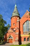 St Michael`s Church in central Turku. Suomi Royalty Free Stock Images