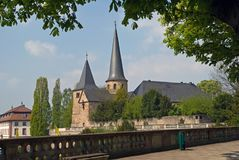 St. michael`s church, in fulda stock photography