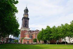 St.Michael's church in Hamburg stock photo
