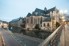 St. Michael`s Church in the heart of Ghent Royalty Free Stock Photo