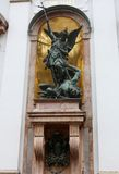 St. Michael's Church, Munich, Archangel Michael statue Stock Images