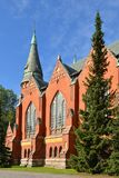 St Michael`s Church is church situated in central Turku. It`s named after Archangel Michael and was finished in 1905. Main buildin Royalty Free Stock Images
