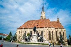St. Michael's Church Tower, Cluj Napoca, Romania Royalty Free Stock Images
