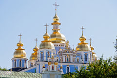 St. Michael's Golden-Domed Cathedral in Kiev Stock Images