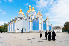St. Michael's Golden Domed Cathedral in Kiev, Ukraine Stock Photography