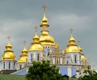 St. Michael's Golden-Domed Monastery at the Kiev Stock Photos