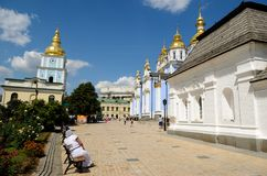 St. Michael's Golden-Domed Monastery, Kiev Stock Photo