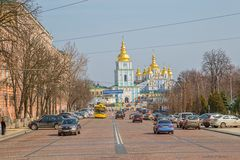 St. Michael's Golden-Domed Monastery Stock Images