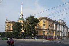 St Michael ` s kasztel, także nazwany Mikhailovsky kasztel lub Enginee, Zdjęcie Stock