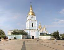 St. Michael's Monastery and Princess Olga monument Stock Photography