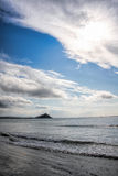 St Michael`s Mount against sunset near Penzance in Cornwall Stock Photography