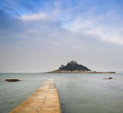 St Michael's Mount Bay Marazion early morning landscape with pat Stock Image