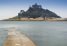 St Michael's Mount Bay Marazion early morning landscape Stock Photography