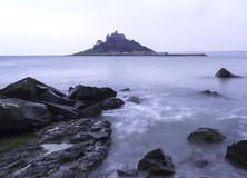 St Michael's Mount Bay Marazion landscape pre-dawn long exposure Royalty Free Stock Image