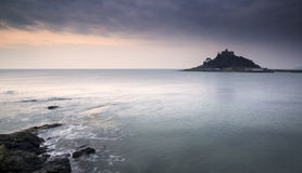 St Michael's Mount Bay Marazion landscape sunrise Stock Images