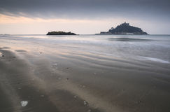 St Michael's Mount Bay Marazion landscape sunrise Royalty Free Stock Image