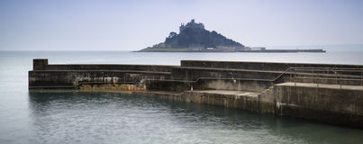 St Michael's Mount Bay Marazion long exposure landscape with har Royalty Free Stock Photography