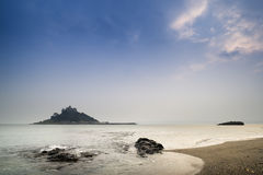 St Michael's Mount Bay Marazion long exposure landscape Royalty Free Stock Photos