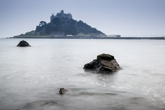 St Michael's Mount Bay Marazion long exposure landscape Royalty Free Stock Photography